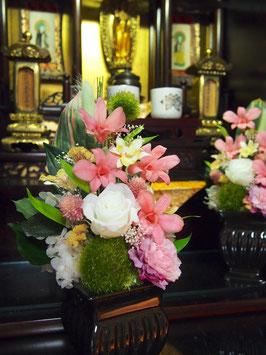 プリザ仏花 ーデンファレー