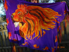 Firey Lion Prayer Shawl