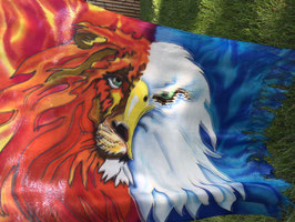Eagle Lion Prophetic Flags