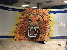 Roaring Lion Banner/Billow