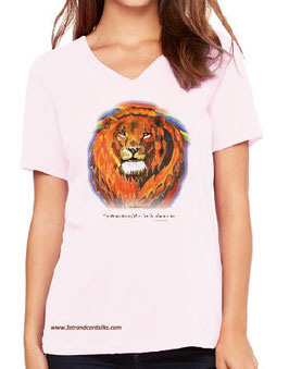 LION T SHIRT - Light Pink