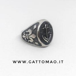 Maxi anello Argento 925 Misura regolabile - ANCORA