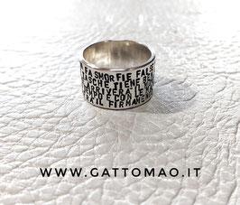 Anello Argento 925 FASCIA CHIUSA incisione personalizzabile*