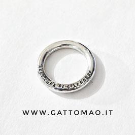 BBTT1 •Fedina Argento 925 TUTTOTONDO incisione Lato Superiore• Personalizzabile*