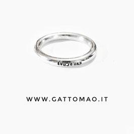 BBTT3 •Fedina Argento 925 TUTTOTONDO incisione Frontale• Personalizzabile*