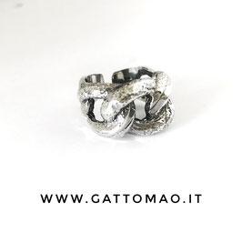 Anello maxi catena Argento 925 Regolabile