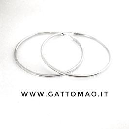 Orecchini Argento 925 Anella semplice 50mm