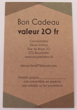 Bon Cadeau Valeur 20 fr