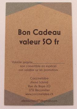 Bon Cadeau Valeur 50 fr