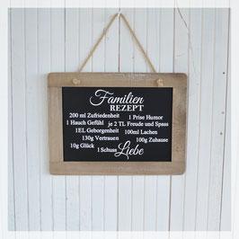 Schiefertafel, Familienrezept