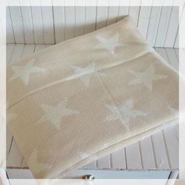 Decke, beige mit weissen Sternen