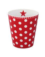 Tasse mit Punkten, rot