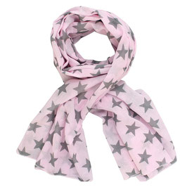Schal Sterne, rosa