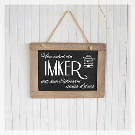 Schiefertafel, Imker