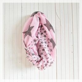 Loop-Schal Sterne, pink