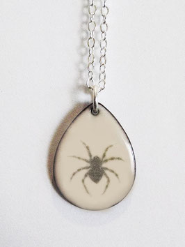 Small Teardrop Necklace in House Spider