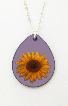 Large Teardrop Necklace in Sunflower