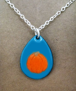 Small Teardrop Necklace in Pumpkin