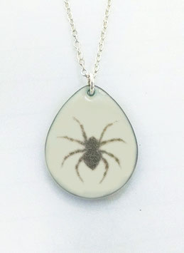 Large Teardrop Necklace in House Spider