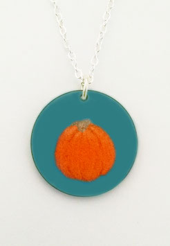 Large Round Necklace in Pumpkin