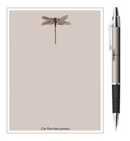 Dragonfly Stationery: Notepad & Pen Set