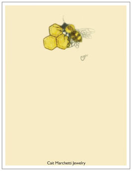 Honeybee & Honeycombs Stationery