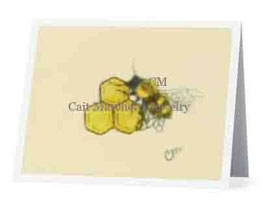 Honeybee and Honeycombs Greeting Card