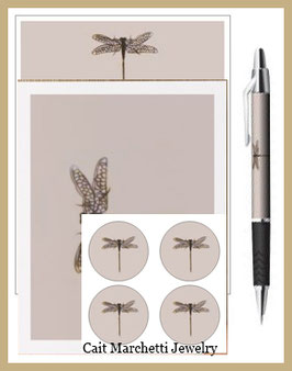 Complete Dragonfly Stationery Set
