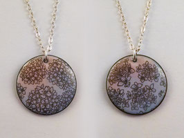 Large Round Necklace in Hydrangea