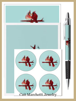 Complete Cardinals Stationery Set