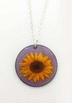 Large Round Necklace in Sunflower