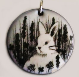 Large Round Necklace in Bunny