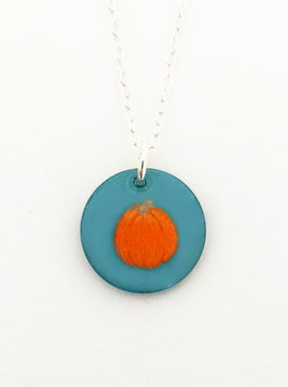 Small Round Necklace in Pumpkin