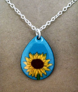 Small Teardrop Necklace in Sunflower