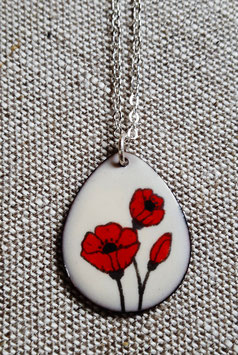 Large Teardrop Necklace in Poppy