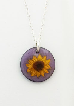 Small Round Necklace in Sunflower