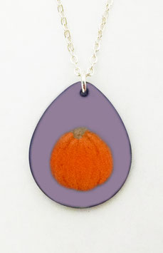 Large Teardrop Necklace in Pumpkin