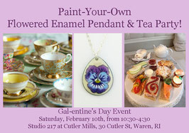 "Registration for ""Paint-Your-Own Pendant & Tea Party!"" with Cait Marchetti"