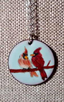 Large Round Necklace in Cardinals