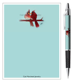 Cardinals Stationery Notepad & Pen Set