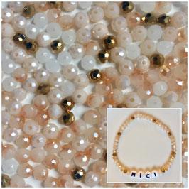 Perlenarmband 'Gold&Beige'