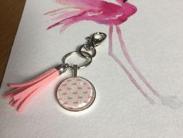 Taschenanhänger Rosa-Flamingo
