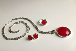 Schmuckset Cherry Red