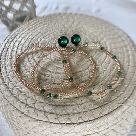 Armband-Set rosé - grün