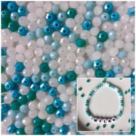 Perlenarmband 'Turquoise&Blue'