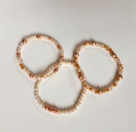 Perlenarmband 'Rosé & Beige'