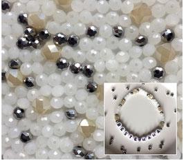 Perlenarmband 'Silver&White'