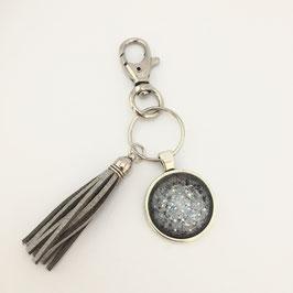 Schlüsselanhänger Silber-Grau