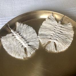 Feder Ohrringe - Cremeweiß