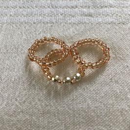 Ring-Set rosé - silber